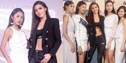 Minh Tú hờ hững eo thon, 'đọ dáng' cùng Rima Thanh Vy trên thảm đỏ Asia's Next Top Model