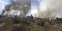 Máy bay chở 101 người rơi tại Mexico