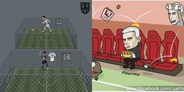 Biếm họa bóng đá châu Âu: Mourinho và cái dớp ra đi sau 3 năm