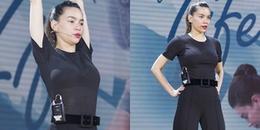 Hồ Ngọc Hà diện áo mỏng tanh lộ nội y, tập dợt trước ngày diễn ra sự kiện