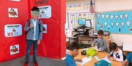 Con trai Ngô Kiến Huy háo hức đi nhập học, quên hẳn tên tiếng Việt