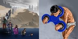 Lặng người trước bộ tranh biếm họa về hiện thực cuộc sống: 'Hô hào thay đổi rồi lại sống như cũ'