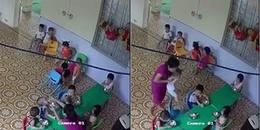 Hà Nội: Đuổi việc cô giáo mầm non nhồi nhét thức ăn, dùng tay đánh liên tiếp vào người bé trai
