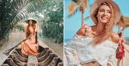 Loạt hot girl 'đột nhiên' hội tụ về Việt Nam du lịch, check-in khoe ảnh cực xinh và chất