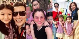 Sao Việt nô nức dậy sớm đưa con tới trường khai giảng năm học mới