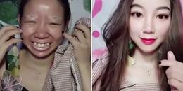 Lại một lần nữa gái trẻ khiến cánh đàn ông mất sạch niềm tin vào phụ nữ vì khả năng make-up siêu ảo