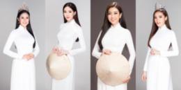 """Bộ ảnh """"Thanh xuân"""" đẹp """"đốn tim"""" của 14 Hoa hậu Việt Nam trong tà áo dài trắng"""