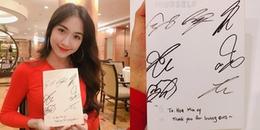 Hòa Minzy lại có dịp khiến ARMY ghen tị khi nhận được album có chữ ký của các chàng trai BTS
