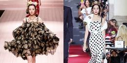 Địch Lệ Nhiệt Ba catwalk tại Milan Fashion Week: Lần được khen nức nở, lần lại bị 'dìm' vì váy áo