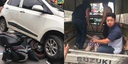 Hà Nội: 'Xe điên' đâm hàng loạt phương tiện khiến nhiều người bị thương