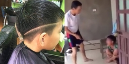Đua đòi cắt tóc kẻ vạch thể hiện bản lĩnh, thanh niên bị bố đánh 'no cơm', khóc tràn bờ đê