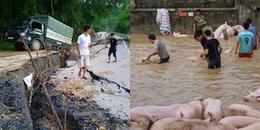 """Thanh Hoá: 13 người chết, mất tích, người dân """"bì bõm"""" lội trong bùn sau mưa lũ"""