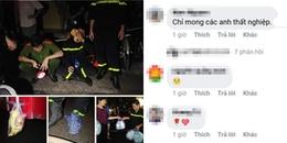 Vụ cháy ở Đê La Thành: Hình ảnh người lính cứu hỏa ăn vội miếng bánh khiến CĐM xúc động