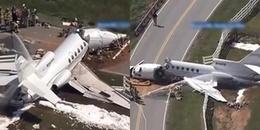 Tai nạn kinh hoàng khi hạ cánh khiến máy bay gãy làm đôi, cơ trưởng và cơ phó tử nạn