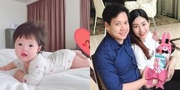 Hoa hậu Đặng Thu Thảo lần đầu tiên khoe ảnh cận mặt con gái cưng