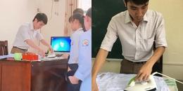 """Ghen tỵ với """"thầy giáo lớp người ta"""" miệt mài là áo cho học sinh để có áo đẹp dự lễ khai giảng"""