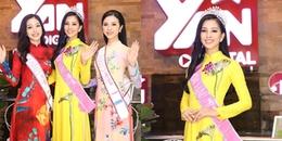 yan.vn - tin sao, ngôi sao - Hoa hậu Trần Tiểu Vy diện áo dài vàng rực đẹp