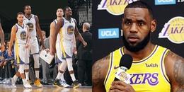 """LeBron James: """"LA Lakers còn lâu mới bằng được Golden State Warriors"""""""