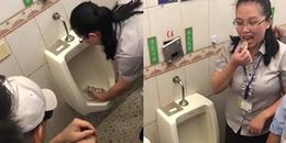 Phẫn nộ công ty bắt nhân viên ăn đồ ăn chứa trong... bồn tiểu để chứng minh nhà vệ sinh sạch
