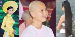 Mỹ nhân sở hữu mái tóc đẹp nhất Hoa hậu Việt Nam 2014 bất ngờ cạo trọc, đi tu