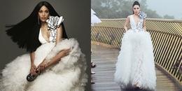 Diện lại váy của Hoa hậu Kỳ Duyên, Lan Khuê vẫn chiếm thế 'thượng phong' thế này
