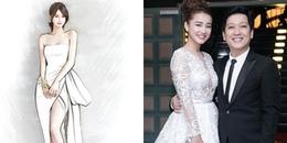 Hé lộ chiếc váy đầu tiên Nhã Phương mặc trong ngày cưới Trường Giang