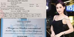 Giữa ồn ào điểm thi của Trần Tiểu Vy, lộ bảng điểm tốt nghiệp cực sốc của Lê Âu Ngân Anh