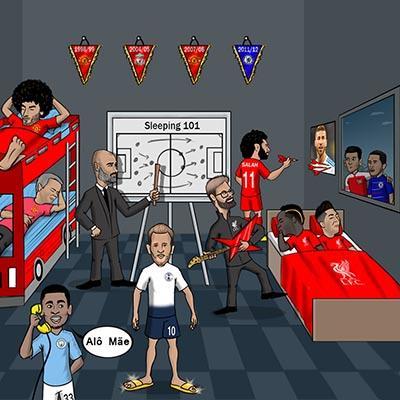 Biếm họa cúp C1 Châu Âu 2018/19: Người Đức mơ ngủ, Hazard khoác vai Ozil nhìn Salah phục thù Ramos
