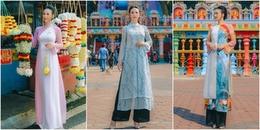 Hoa hậu Paris Vũ diện áo dài nền nã, khoe vẻ đẹp thanh lịch tại Malaysia