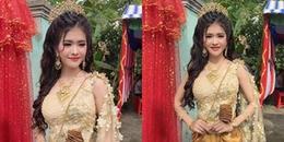 CĐM thi nhau truy tìm danh tính của cô dâu xinh đẹp trong trang phục Khmer đeo vàng đầy người