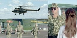Màn xuất hiện cực ngầu của đội đặc nhiệm NH1 tại sân bay với trực thăng 'đốn tim' khán giả