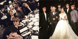 Đi đám cưới chị gái Chanyeol, Sehun chiếm hết spotlight cô dâu chú rể vì mải 'nhăm nhăm chóp chép'