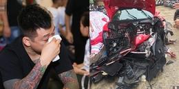 Siêu xe 16 tỷ của Tuấn Hưng gặp tai nạn nghiêm trọng, bẹp dí trên đường khiến fan lo lắng