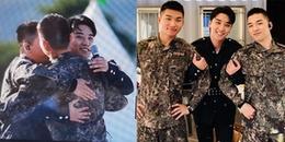"""Ấm lòng khi 3 """"mẩu"""" BIGBANG gặp lại nhau trong quân đội, T.O.P và G-Dragon 'xuất hiện' đầy bất ngờ"""