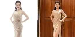 Cái kết nào cho Hoàng Hải Thu khi bất ngờ 'đụng độ' váy áo với Á hậu Bùi Phương Nga?