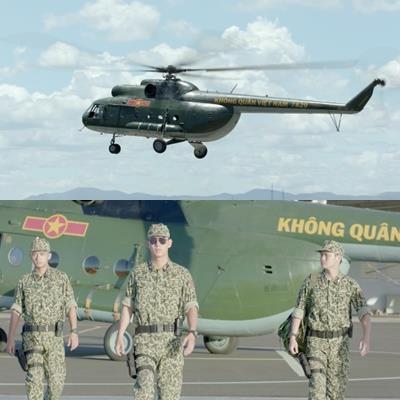 Màn xuất hiện cực ngầu của đội đặc nhiệm NH1 tại sân bay với trực thăng