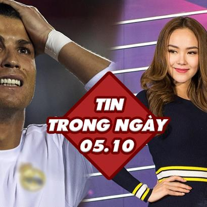 Tin Trong Ngày 05/10: Minh Hằng đại diện Việt Nam tranh giải MTV và tin Ronaldo mất 300,000 tỷ đồng