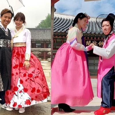 yan.vn - tin sao, ngôi sao - Cùng diện Hanbok như các cặp đôi của VbiZ, Trường Giang lại cao tay khi làm điều này