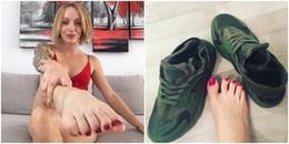 Chẳng cần làm gì cô gái này cũng có thể kiếm bộn tiền nhờ việc bán tất và giày mình đã sử dụng