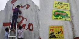 Nhóm phượt thủ dán logo nhóm, sticker lên tảng đá Tam Đảo để check-in khiến CĐM 'dậy sóng'