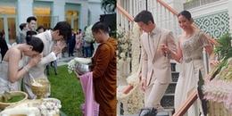 Lễ cưới truyền thống đã diễn ra, 'hoàng tử Thái Lan' Push Puttichai chính thức là 'chồng người ta'