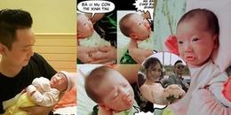 Chỉ mới hơn 1 tháng tuổi, con gái nhà JustaTee đã đáng yêu và 'lầy lội' hơn cả bố