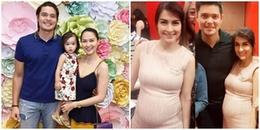 Không còn giấu giếm, 'mỹ nhân đẹp nhất Philippines' lần đầu khoe bụng bầu lần 2