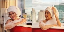 Hậu kết hôn, Lan Khuê lần đầu khoe ảnh ướt át trong bồn tắm khiến fan há hốc