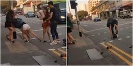 Xôn xao clip 2 cô gái lao vào đánh chửi nhau bằng tiếng Việt trên đường phố Singapore