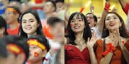'Nửa kia' xinh đẹp của các cầu thủ rạng rỡ trên khán đài cổ vũ người yêu trận Việt Nam - Malaysia