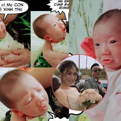 yan.vn - tin sao, ngôi sao - Chỉ mới hơn 1 tháng tuổi, con gái nhà JustaTee đã đáng yêu và 'lầy lội' hơn cả bố