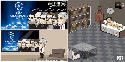 """Loạt ảnh chế: Chú tư Wenger """"sống ảo"""", CR7 mơ về cú hattrick C1"""