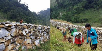 """Độc đáo những """"tường thành"""" đá nơi thung lũng Sài Khao"""