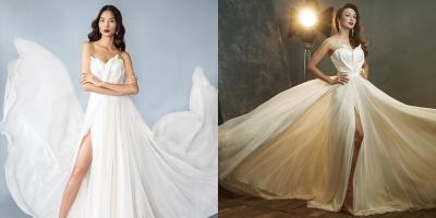 """Hoa hậu Ngọc Diễm """"đụng độ"""" váy áo với Hoàng Thùy trước giờ G"""